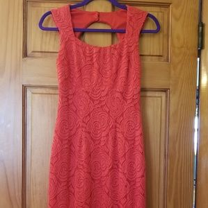 Red lace Cache dress size 0